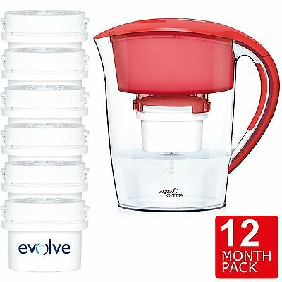 Aqua Optima Minerva Compact Fridge Water Jug 2.5L +6 60-Day Filter 12 Month Pack