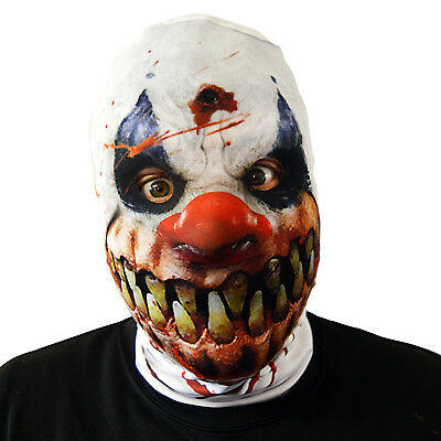 Halloween Monster Smile (Monster Smile Killer Clown Halloween Face Mask Fancy Dress Scary Horror)