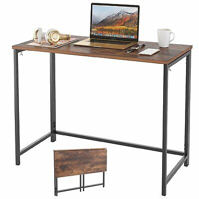 Folding Study Coffee Table Foldable Computer Desk Wooden Laptop Office Tables