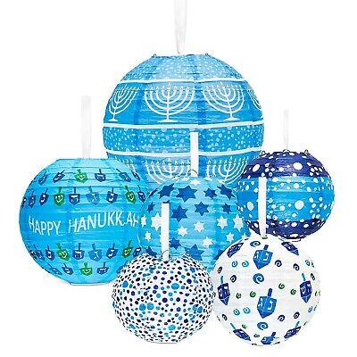Hanukkah Hanging Ball Lanterns Ornaments (6-Pack) - Hanukkah Decorations! ()