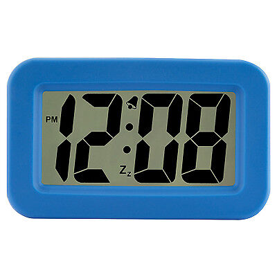 6151A Advance Time Technology Large 1 25  Lcd Display Digital Alarm Clock   Blue