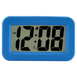 6151A Advance Time Technology Large 1.25 LCD Display Digital Alarm Clock - Blue