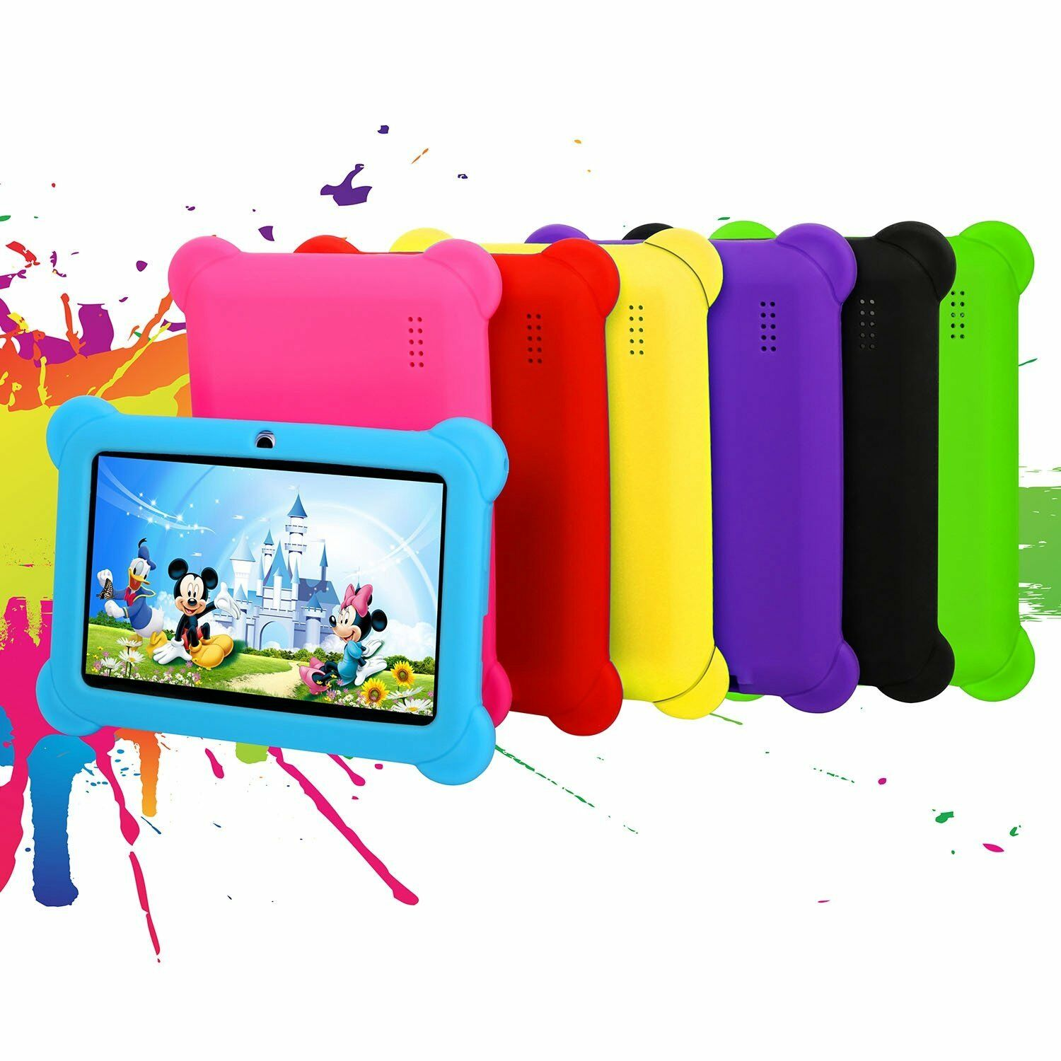 "For 7"" Inch Tablet Kids Shockproof Case Rubber Soft Silicone"