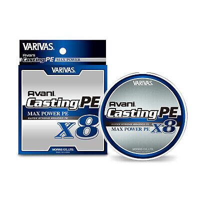 VARIVAS AVANI SUPER STRONG PREMIUM x 8 BRAID LINE SHORE CASTER 10x10