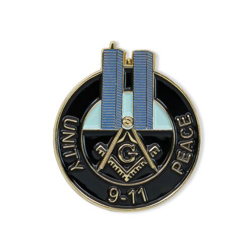 Square & Compass Twin Towers 9-11 Unity Peace Masonic Lapel Pin