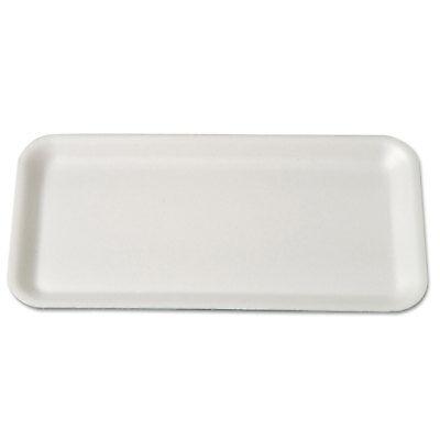 Genpak Supermarket Trays Foam White 10 3/4 x 5 3/4 x 1/2 10SWH