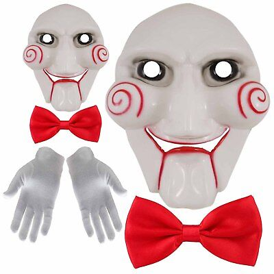 *UK Seller* Saw Jigsaw Puppet Mask Halloween Horror Costume Fancy Dress Unisex (Halloween Masks Uk Horror)