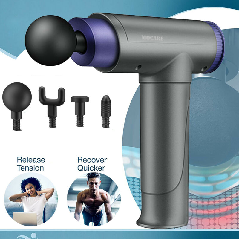 Massage Gun Muscle Vibrating Relaxing Percussion Massager Therapy Deep Tissue