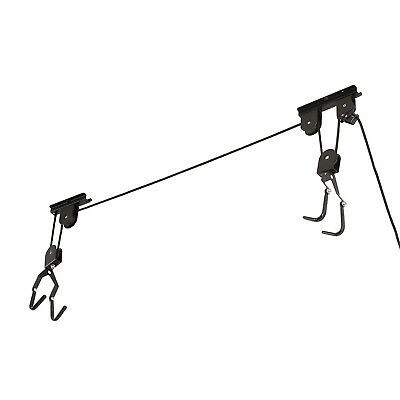 Ceiling Mounted Bike Lift Pulley System Bicycle Holder Storage Rack Garage Home