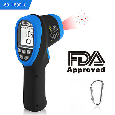Infrared Thermometer 1800 Pyrometer Ir Temperature Gun Furnace Refrigerated Use