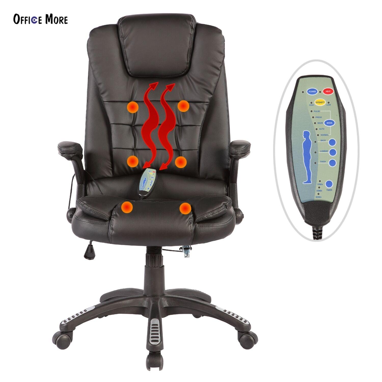 Executive Office Massage Chair Heated Vibrating Ergonomic Computer Desk