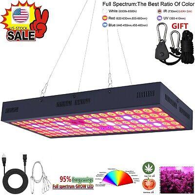 5000W LED Grow Light Strip Hydroponic Full Spectrum Veg Flower Plant Lamp -
