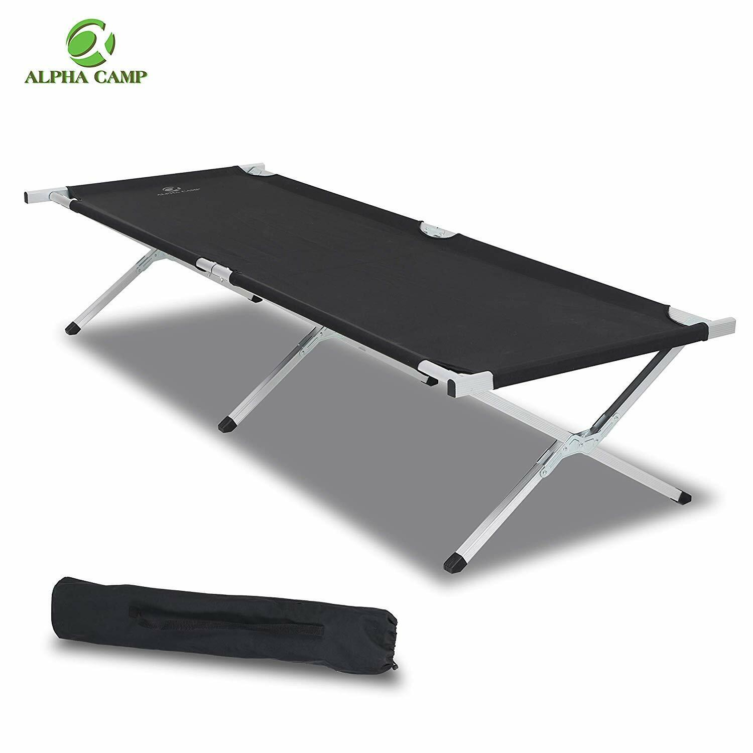 ALPHA CAMP Oversized Camping Cot Portable Aluminum Sleeping