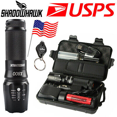 20000lm Genuine SHADOW HAWK X800 Tactical Flashlight L2 LED Military Torch kit