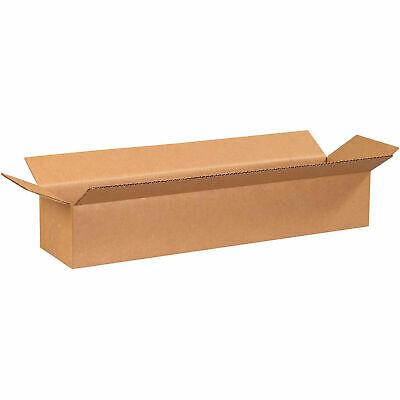 24 X 6 X 4 Long Corrugated Carton 65 Lbs Capacity 200ect-32 Lot Of 25