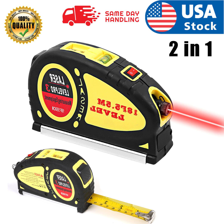 USA 4 In 1 Waterproof Infrared Laser Tape Measure Horizon Vertical Mesuring Tool Home & Garden