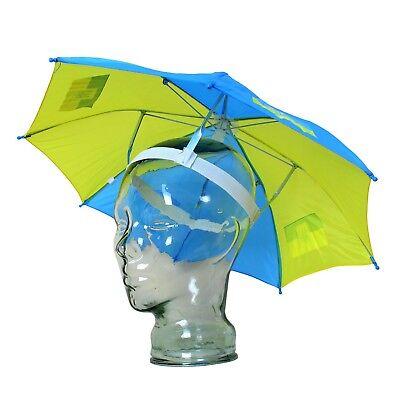 Schirmhut Regenschirm Kopfschirm Sonnenschirm Kopf Ukraine Украина gelb blau 50