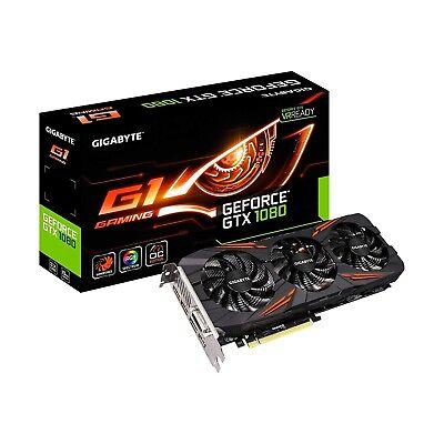 Gigabyte Geforce GTX 1080 G1 Gaming 8GB Graphics CardGV-N1080G1 - Used