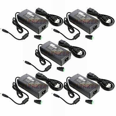 5x Ac100v-240v To Dc 12v 8a Switching Power Supply Adapter For Led Strip Light