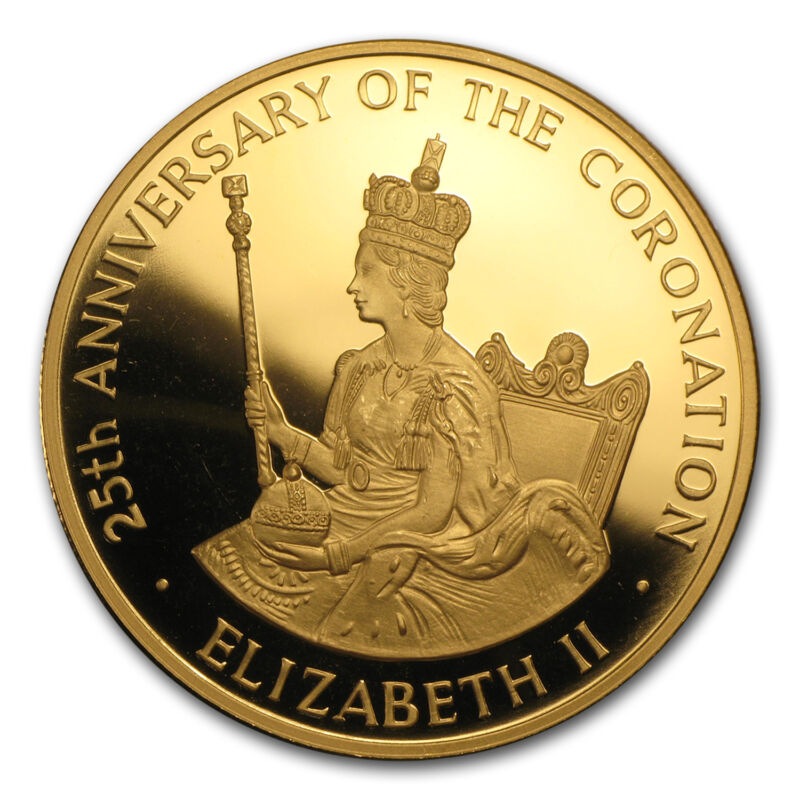 1978 Jamaica Proof Gold 250 Dollars 25th Anniv Of Coronation - Sku #46601