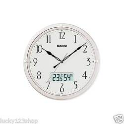 IC-02-7D Casio Clock White Analog Digital New Model Brand-New