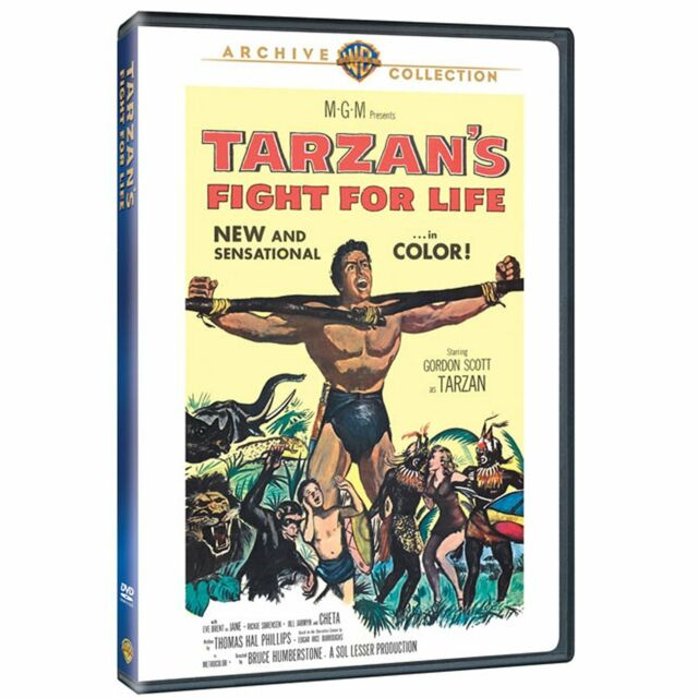 TARZANS FIGHT FOR LIFE - (1958 Gordon Scott) Region Free DVD - Sealed