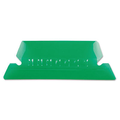 Pendaflex Hanging File Folder Tabs 15 Tab Two Inch Green Tabwhite Insert 25