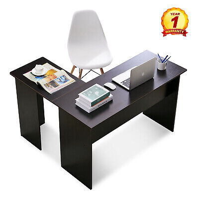 L-Shaped Table Computer Desk Home Office Laptop PC Wood Table Black for sale  Lake Oswego