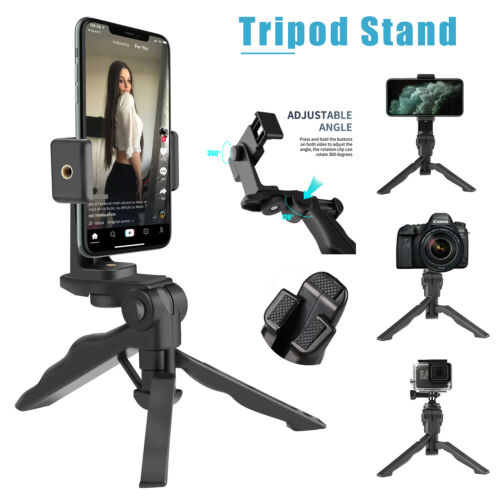 360° Adjustable Tripod Desktop Stand Desk Holder Stabilizer For Cell Phone GoPro