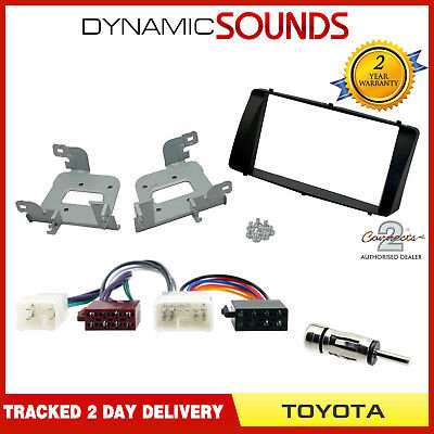 Car Stereo Double Din Fascia Panel & Wiring Harness for Toyota Corolla 2003-08