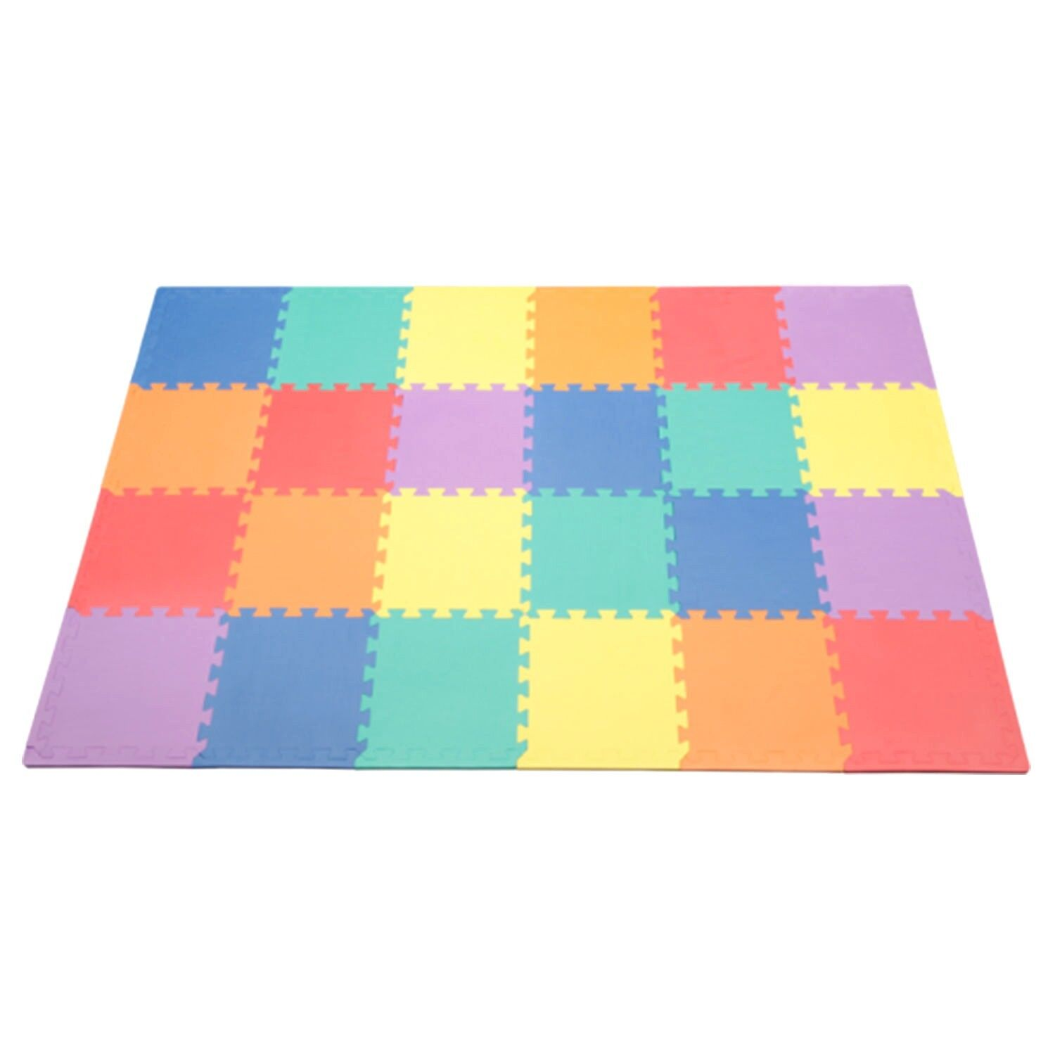 "Kids Foam Floor Play Mat Puzzle 24pcs 12"" Tile Toddler Baby"