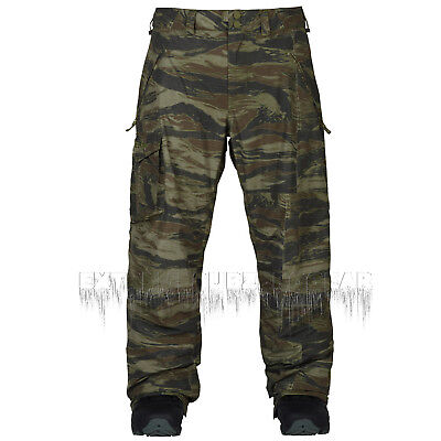 BURTON 2018 Mens Snowboard Snow - Covert Insulated Pant - Olive Green Worn Tiger