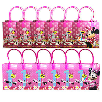 1st Birthday Party Loot Bags - Disney Minnie Mouse 1st Birthday Party Loot Bags Birthday Goody Fun Gift Bag