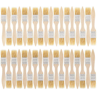 "US Art Supply 1"" Chip Brushes Paint Glue Adhesives Touchups 1 Inch Lot of 36"