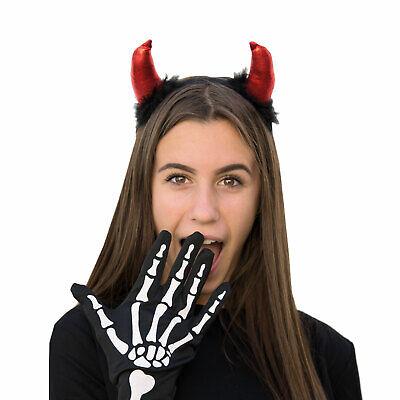 Haarreifen mit Teufel Hörner Ohren Fasching Karneval Halloween - Kostüm Mit Hörner