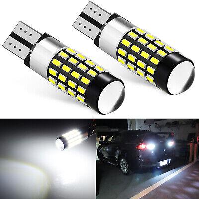 2x 11W 921 912 T10 6000K White Super Bright LED Backup Reverse Lamp Light Bulbs