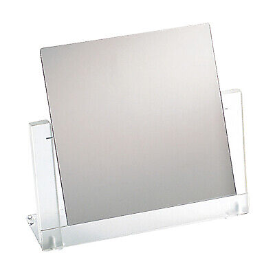 Countertop Adjustable Frosted Acrylic Frame Glass Mirror Retail Jewelry Makeup