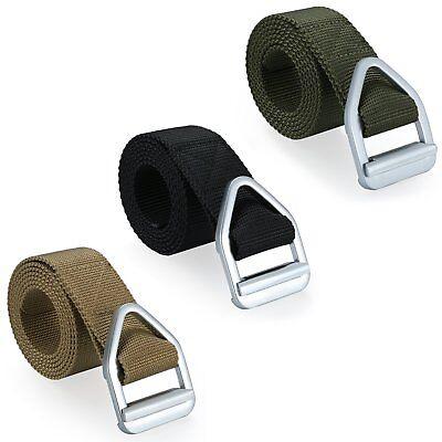 Mens Military Combat Outdoor Tactical Nylon Canvas Bullet Buckle Waistband Belt