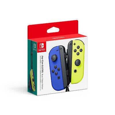 Nintendo Switch Joy-Con (L/R) Controllers - Blue/Neon Yellow [Brand New]