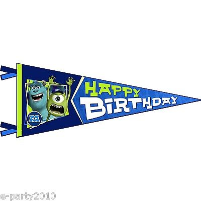 MONSTERS UNIVERSITY HAPPY BIRTHDAY FLAG BANNER ~ Party Supplies Decorations