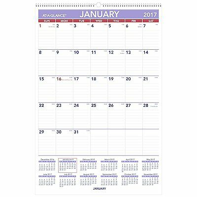 At-a-glance Monthly Wall Calendar With Ruled Daily Blocks 20 X 30 White 2018