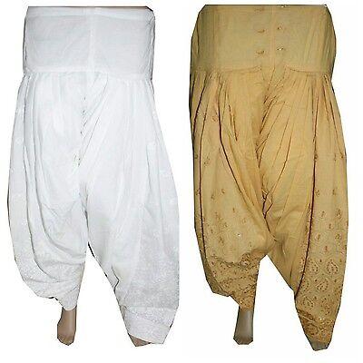 Combo Indian Ethnic Readymade Punjab Suit PATIALA/ Patiyala SALWAR Women Pants for sale  Shipping to United States
