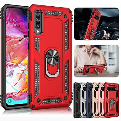 New Samsung Magnet - For Samsung Galaxy A50 A30 A70 A10 Magnetic Hybrid Ring Holder Stand Case Cover