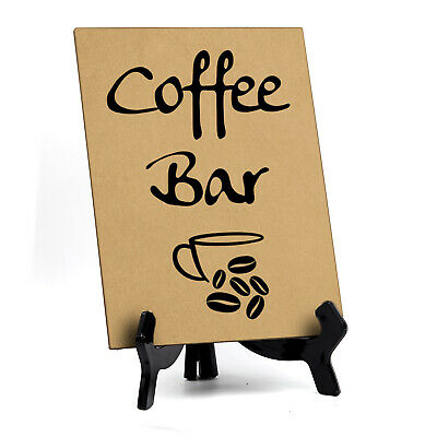 Signs Bylita Coffee Bar Table Sign 6 X 8 Tan