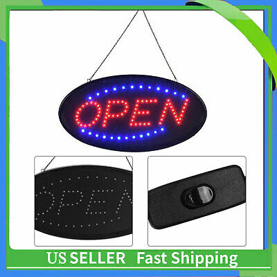 Led Open Sign Animated Motion Running Business Onoff Switch Bright Light New