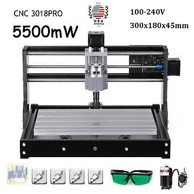 Cnc 3018pro Diy Cnc Lase R Engraving Router Carving Pcb Pvc Milling Machine W5x9