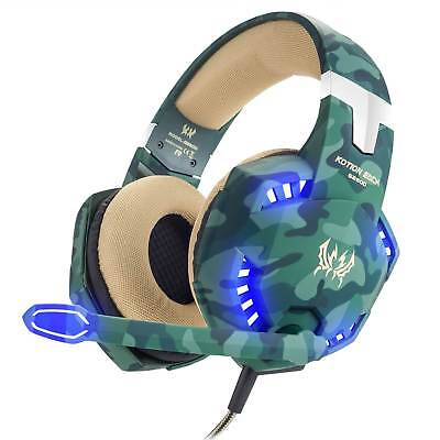 G2600 Gaming Headset Over Ear Stereo Camo Headphone Mic for PS4 New Xbox One PC
