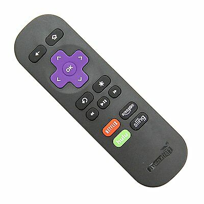 New Replacement Remote for ROKU 1/2/3/4 Express/Premiere/Ultra with 4 Shortcut