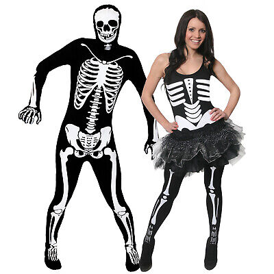 PAARE KOSTÜM HALLOWEEN  TUTU GANZKÖRPER SKELETT PARTY VERKLEIDUNG MÄNNER - Skelett Kostüm Männer
