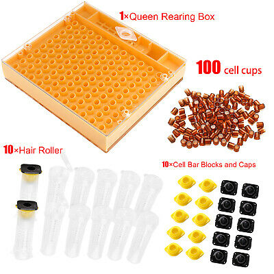 Bee Nicot Beekeeping Tool Kit Box Case Queen Rearing System Cell Cups